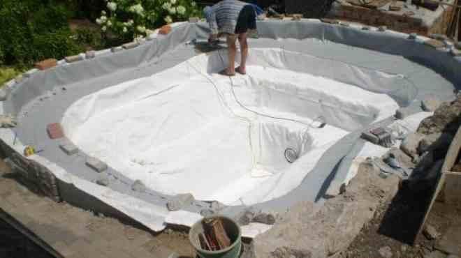 Изготовление дна бассейна их ткани ПВХ