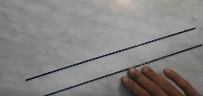 Отрезаем стальные прукти нужной длины